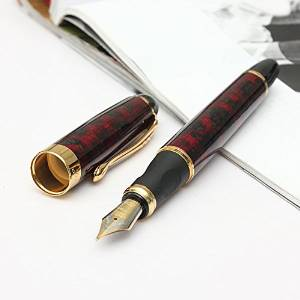 Jinhao X450 Golden M Nib Fountain Pen / Jinhao X450 Golden M Nib Fountain Pen . . Specification: . Unique and creative design . . Golden clip and snap on cap . . Removable ink converter