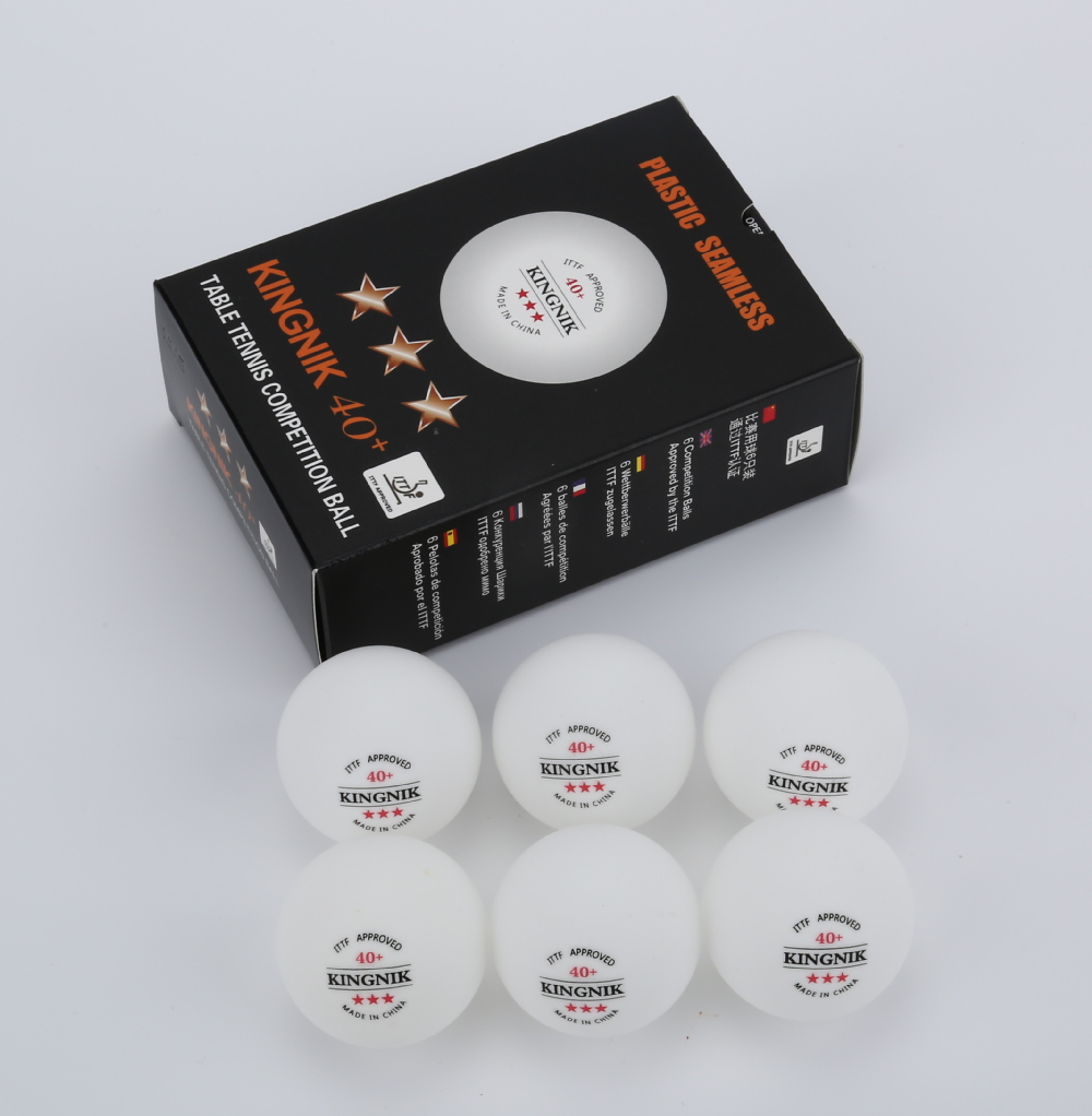 ITTF approved 3star 40+ seamless plastic ping pong ball ( PU plastic)