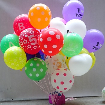 wholesales silicone polka dot balloons for party decoration