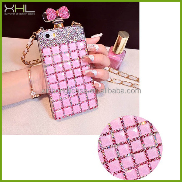 cases for iphone 5,wholesale perfume bottle rhinestone phone case cover for iphone 5