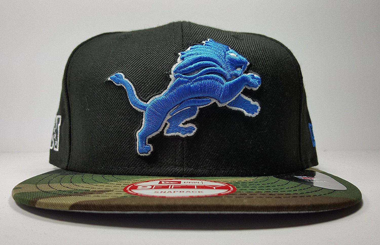 2b71f962869 Get Quotations · New Era Detroit Lions 9Fifty Black Army Camo Adjustable Snapback  Hat NFL
