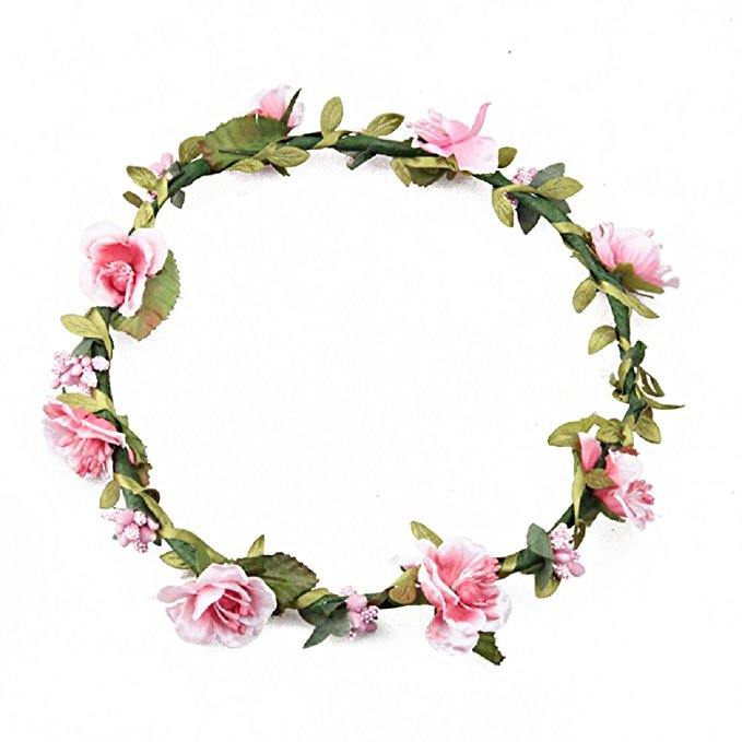 Hair Garland Floral Wreath Flower <strong>Headband</strong> For Wedding Wreath