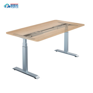 Ergonomic two legs Adjustable Height office computer Desk electric