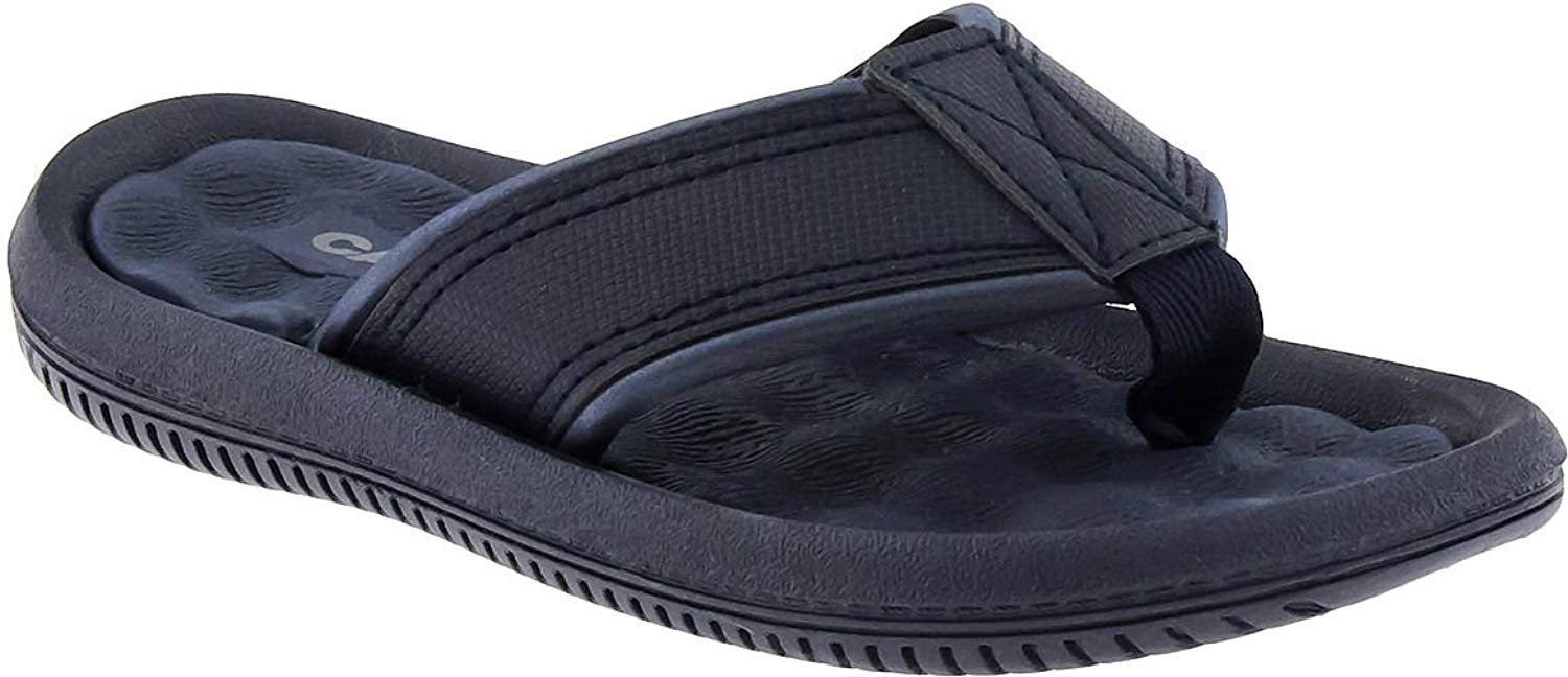 Capelli New York Textured Faux Leather Thong Boys Flip Flops