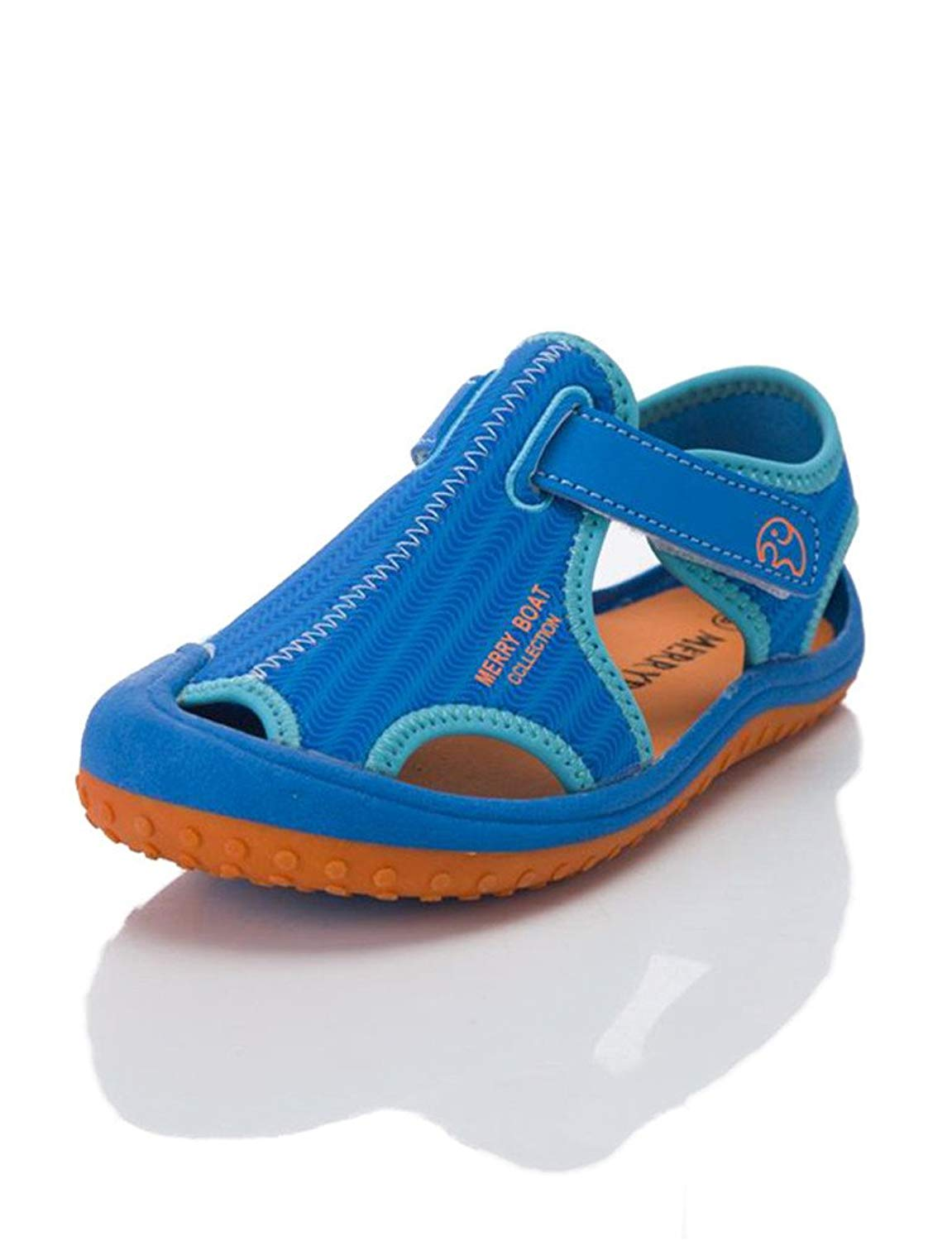 19b04f89ad7b98 HILEELANG Kids Boy Girl Aquatic Water Shoe Closed Toe Sport Beach Sandals  Light Weight (Toddler