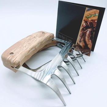 Metal meat claws - Stainless steel- BBQ chicken,Pork Pullers with wooden handles