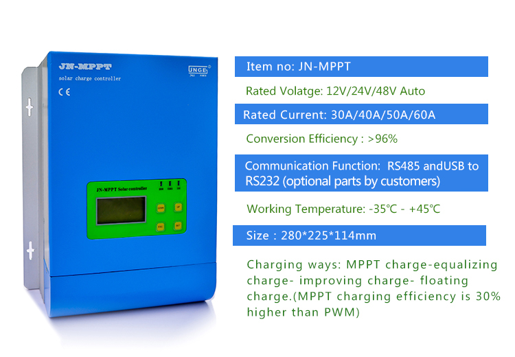Jn-mppt Jnge Over Voltage Protection Solar Power Mppt Charge Controller  Mppt Solar Panel Charge Controller 30a 40a50a 60a - Buy Mppt Charge