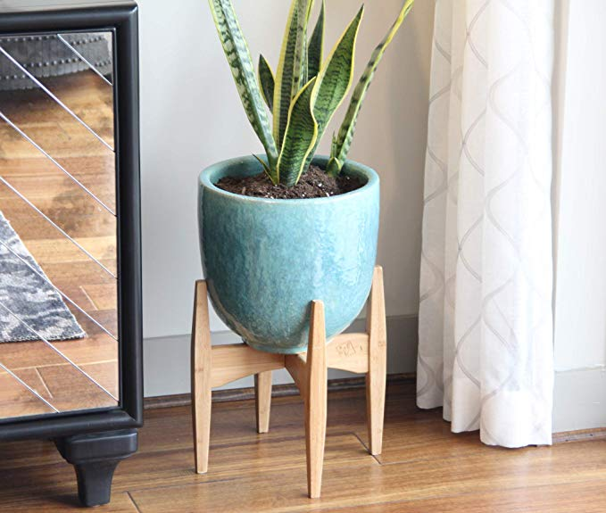 Home Decor Bamboo Wooden Plant Stand Flower Pot Holder