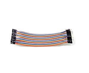 Angelelec DIY Open Sources 40PCS Dupont Wire Jumper Cables 20 CM 2.54 MM Male to Female 1P-1P For Arduino, Compatible with 2.54 MM Spacing Pin Headers.