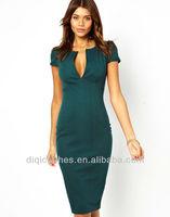 Western American Office Lady Wear 2014 Latest New Style Dress Formal Dress