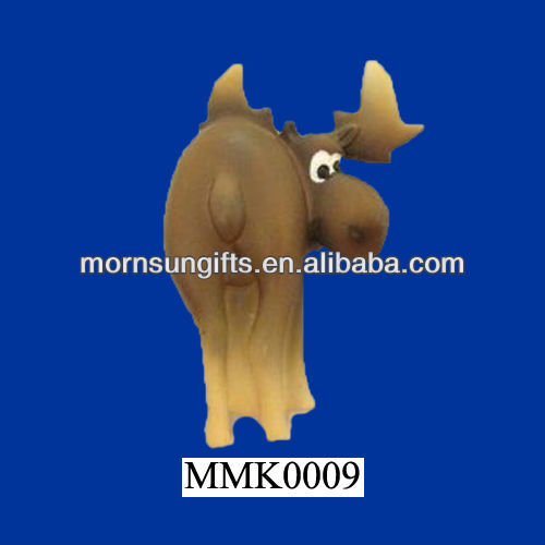 Polyresin Moose Comical Cartoon Souvenir Fridge Magnet