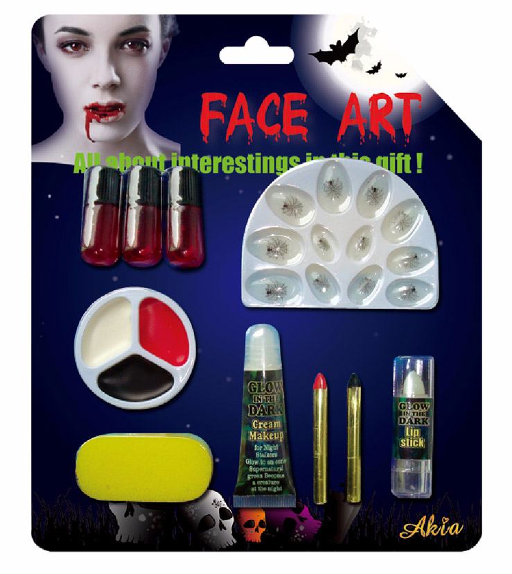 Halloween Makeup Set With Fake Nail,Fake Blood,Face Paint And ...
