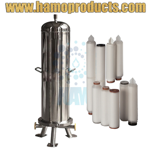 Sanitary 3x20inch Stainless Steel Cartridge Filter Housing for Industrial Water Filter