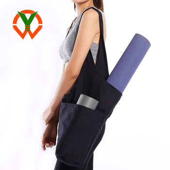 Yoga Exercise Sling Carrier Yoga Mat Bag Shoulder Strap with Large Side Pocket And Zipper Pocket