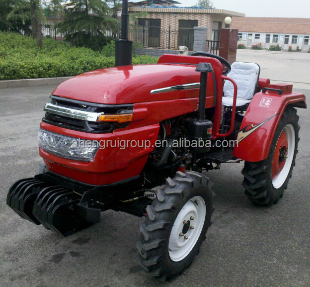 Factory supply 55hp 4 Wheel drive farm tractor with front end loader