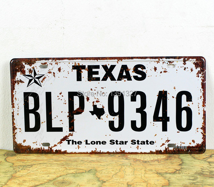 El juego de las imagenes-http://g01.a.alicdn.com/kf/HTB1d1tGIXXXXXbbXpXXq6xXFXXXp/Sale-Texas-BLP-9346-Car-Number-Plates-Retro-Metal-Tin-Sign-Home-Pub-Bar-Decor-6.jpg