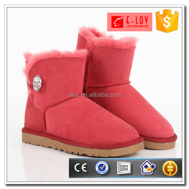 New arrival plain winter snow shoes women fashion boots dropship 3352