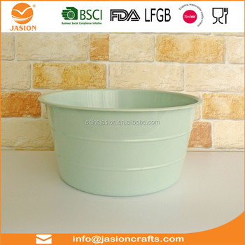 Metal Laundry Tub Cloth Bucket Storage Basket