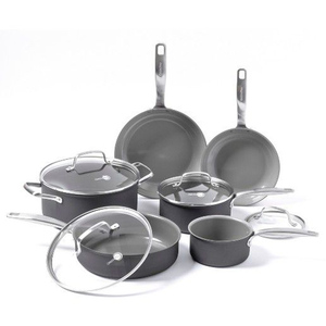 10-Piece Non-Stick Aluminum Cookware Set induction pans pots different color is available