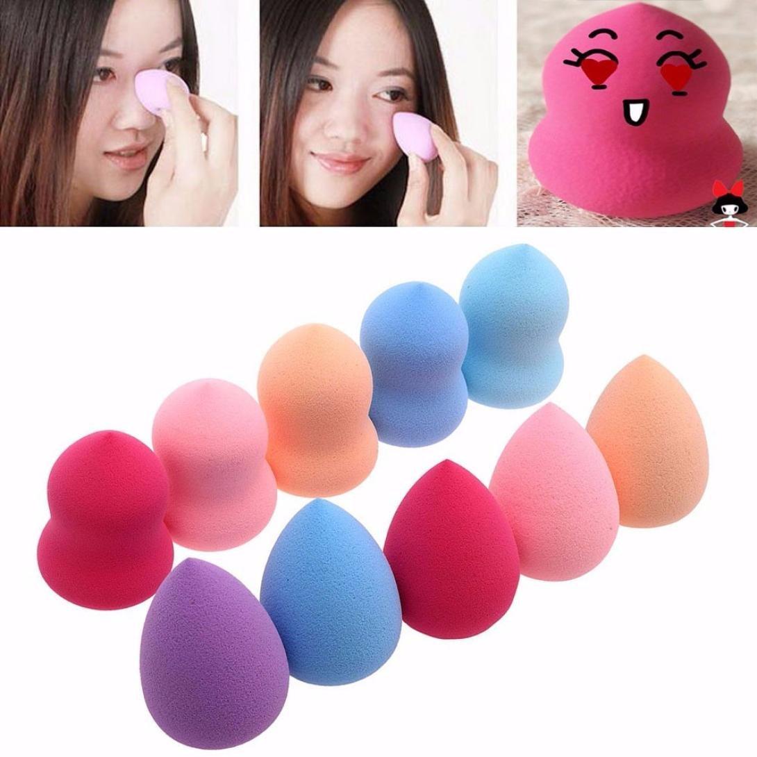 Sponges Puff,AMA(TM) 10PCS Pro Beauty Flawless Makeup Foundation Puff Multi Shape Sponges (10PCS)