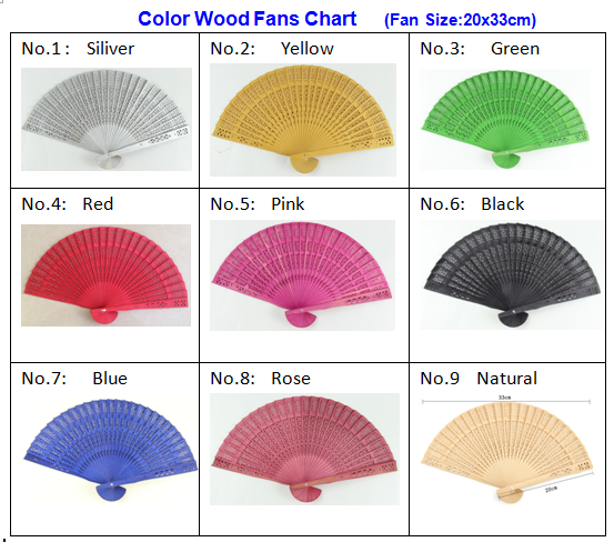 20cm cherry wooden cheap price Personalized Wedding Fan for promotion