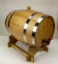 Wholesale factory FSC&BSCI stain pine Wooden 10L bar drinking beer whiskey wine tank Barrel Dispenser with leg