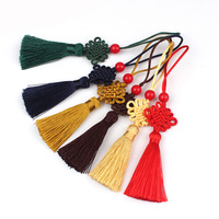 wholesale colored chinese knot tassel fringe for bookmark decoration