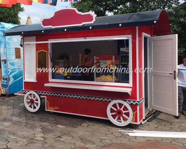 Custom made outdoor food cart for sweet <strong>corn</strong>, biscuit, chocolate