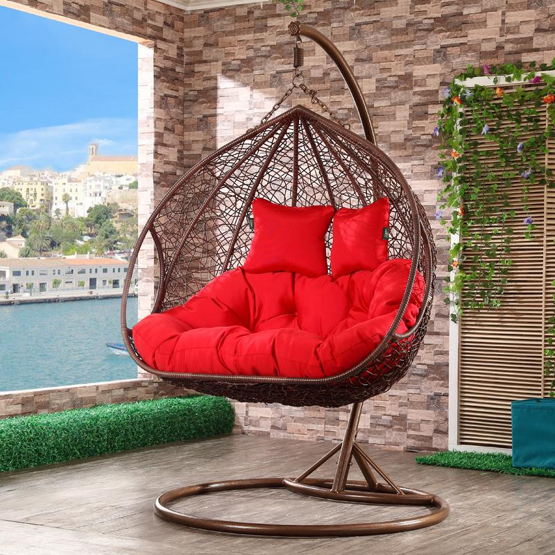balkon zwei sitz korb schaukel mit ecktisch schwingen im hof produkt id 60514344288 german. Black Bedroom Furniture Sets. Home Design Ideas