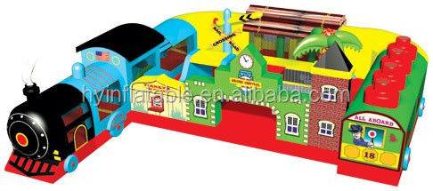 Large inflatable bouncer funny city,inflatable tunnels for kids