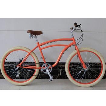 7 Sd Nice Beach Cruiser Bicycle Orange 26 Inch Lady
