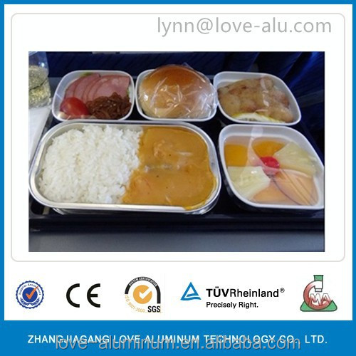 airline coated aluminum foil food container with lids food packing manufacturer