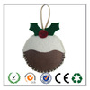 2016 Factory direct selling Felt Christmas pudding ornaments for Christmas tree decorations