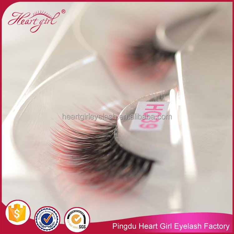 Wholesale Gradient Korea Silk Eyelash Two Tone Colorful Eyelash