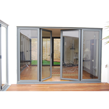 exterior patio entry door with Thermal break double large glass