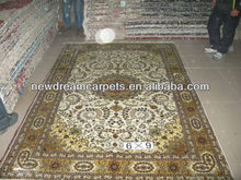 Chinese Foshan Hand Knotted Pure Silk Carpet