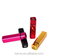 Electroplated lipstick rechargeable power bank 2600mah Mobile Power Bank custom LOGO