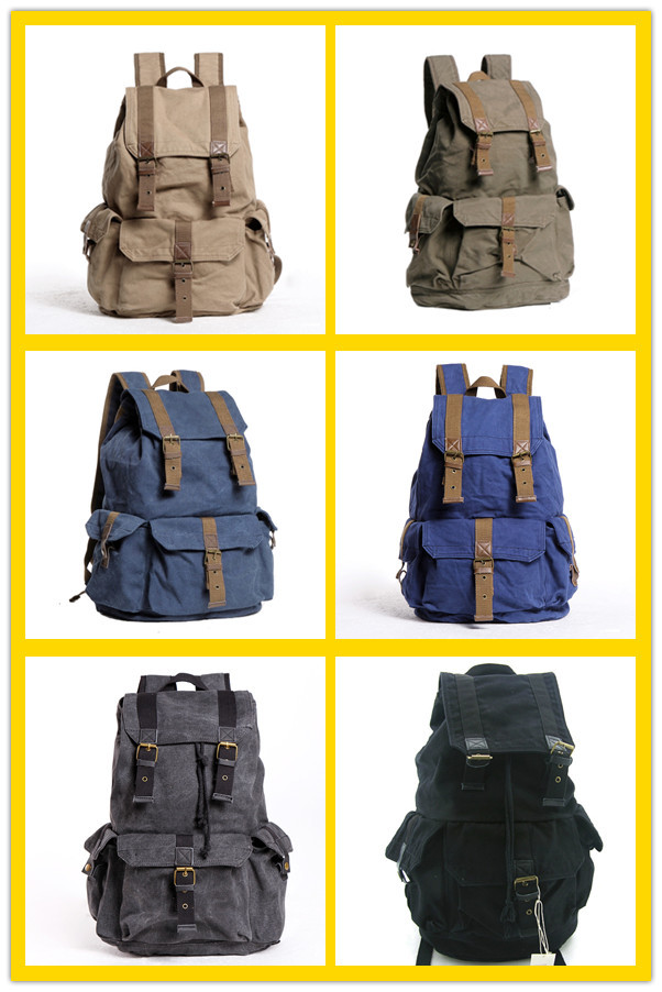 Hot Sale Fashion Cute Causal Custom Canvas High School Backpack ...