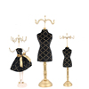 Customized new gold metal hook black dress form fashion jewelry holder for necklace