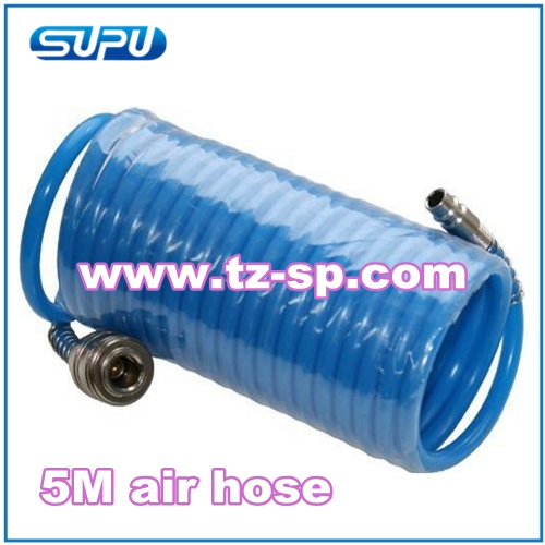 Espiral de la manguera de aire 5 m pe para compresor de - Manguera para compresor de aire ...