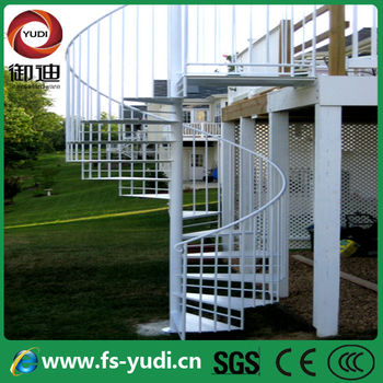 Stainless steel 304 outdoor spiral staircase prices buy - Exterior metal spiral staircase cost ...