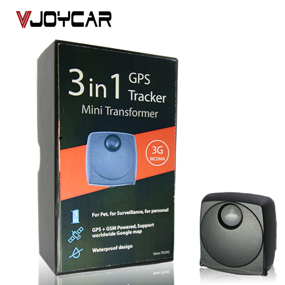VJOYCAR tracking device IP 65 waterproof real time free tracking super mini 3g gps trackers for pet dog personal
