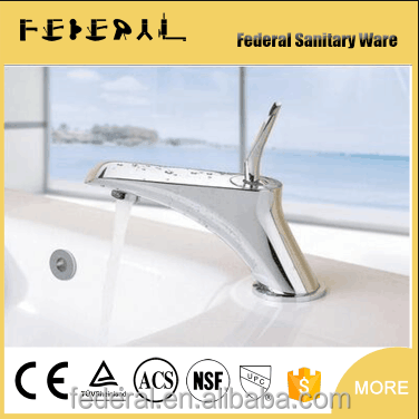 New Brass Bathroom Faucet Waterfall Mixer One Hole/Handle Basin Sink Tap Chrome