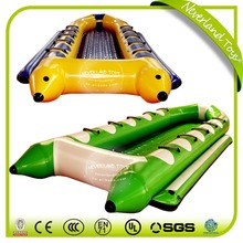 Hot Selling NEVERLAND TOYS Best Quality The Boat PVC Funny Floating Yellow and Green Inflatable Boat Customize Boats Sales