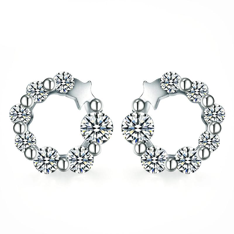 41b66497254a Venta al por mayor joyas de plata de ley 925 ronda pendiente diseños de  pendientes de