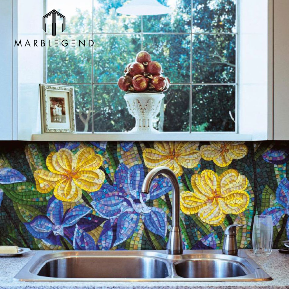 Purple Mosaic Tile, Purple Mosaic Tile Suppliers and Manufacturers ...
