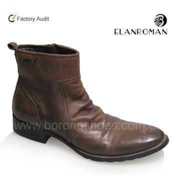 Korea Fashion Kulit Sepatu Hunter Pria Untuk Outdoor 100% Kulit ... 018f6b9f83