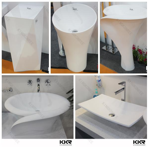 Acrylic Sink Solid Surface Double Sinks / Counter Top Wash Basin ...