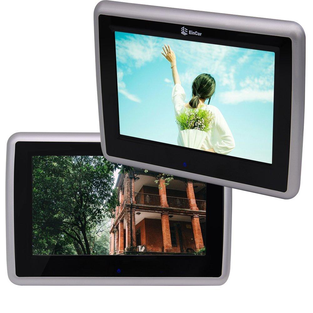 Eincar Car Headrest DVD Player Car Monitor Eincar 9 Inch HD 1080P Capative Touch Screen FM USB SD AV Output Region Free DVD/VCD/MP3/MP4/CD-R/CD-RW/DIVX IR Transmitter 2 PCS