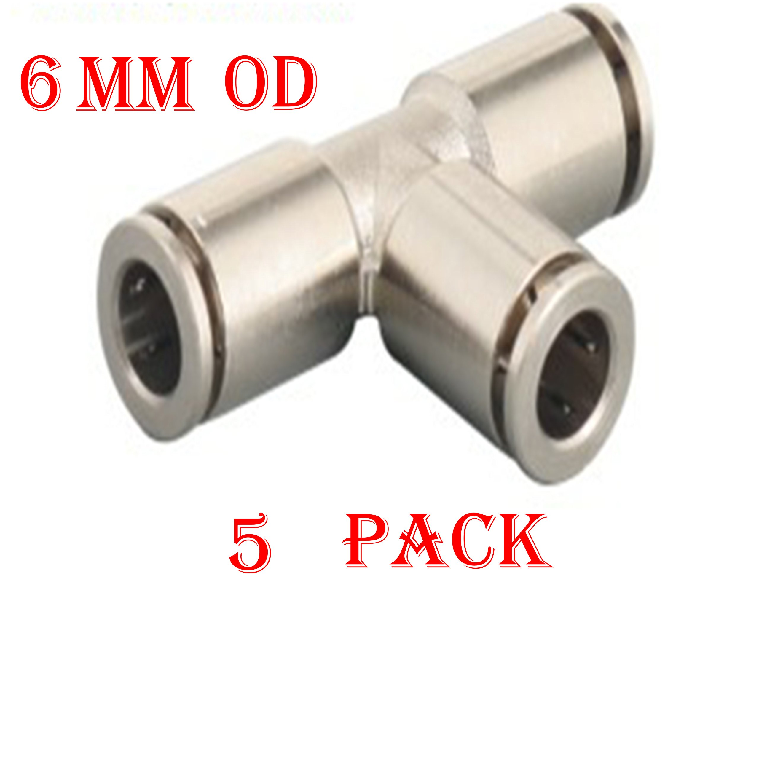 uxcell Push to Connect Tube Fitting Male Elbow 6mm Tube OD X 1//4 NPT Thread Pneumatic Air Push Fit Lock Fitting 4pcs